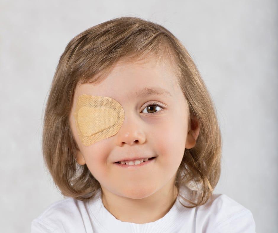 Lazy Eye Child Eye Covered Phoenix Eye Doctor